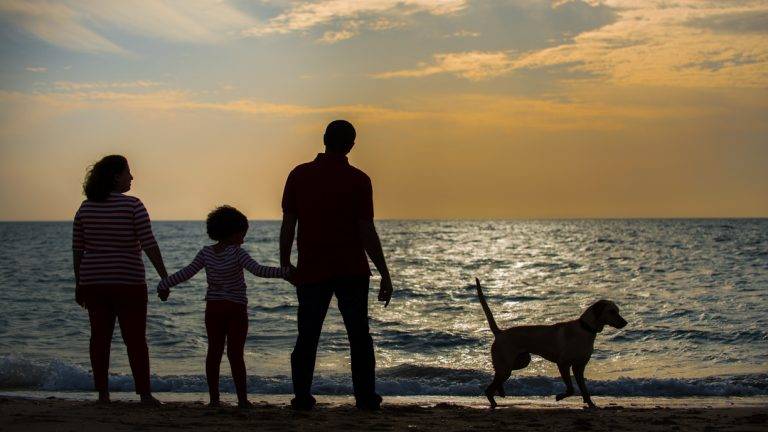 My family enjoying the sunset at Ras Sudr, Egypt