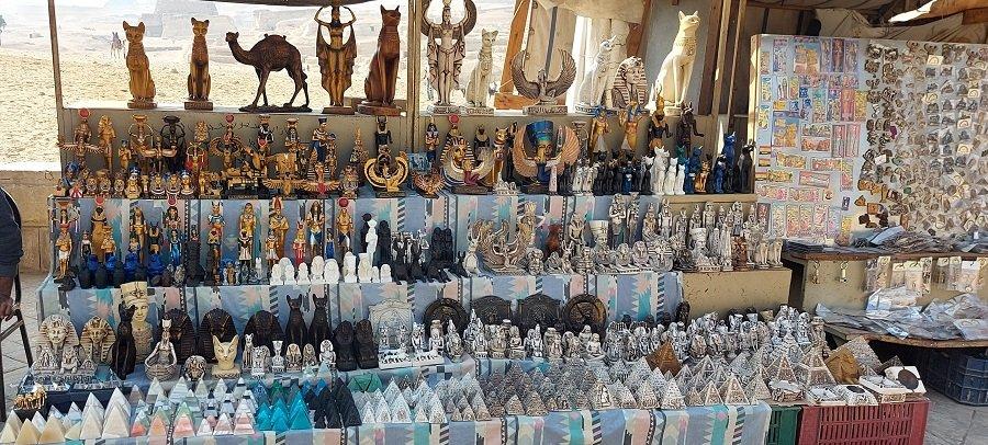 Souvenirs at the Giza Pyramids