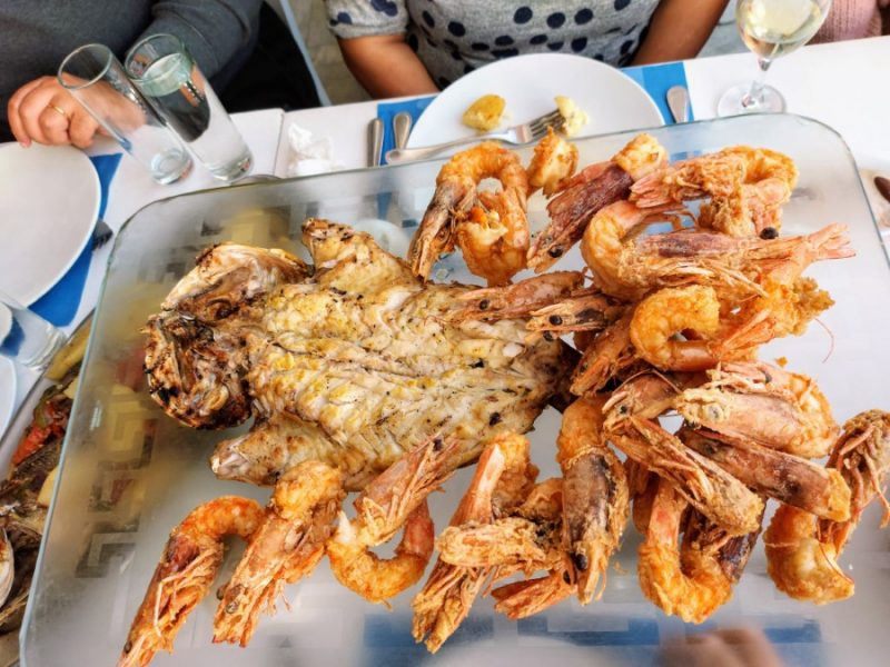 Shrimps and crabs plate