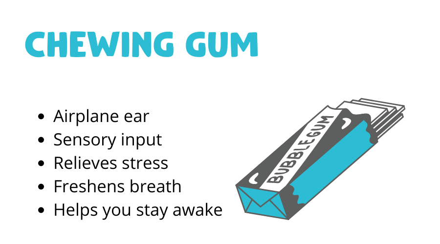 Chewing gum graphic with different hacks