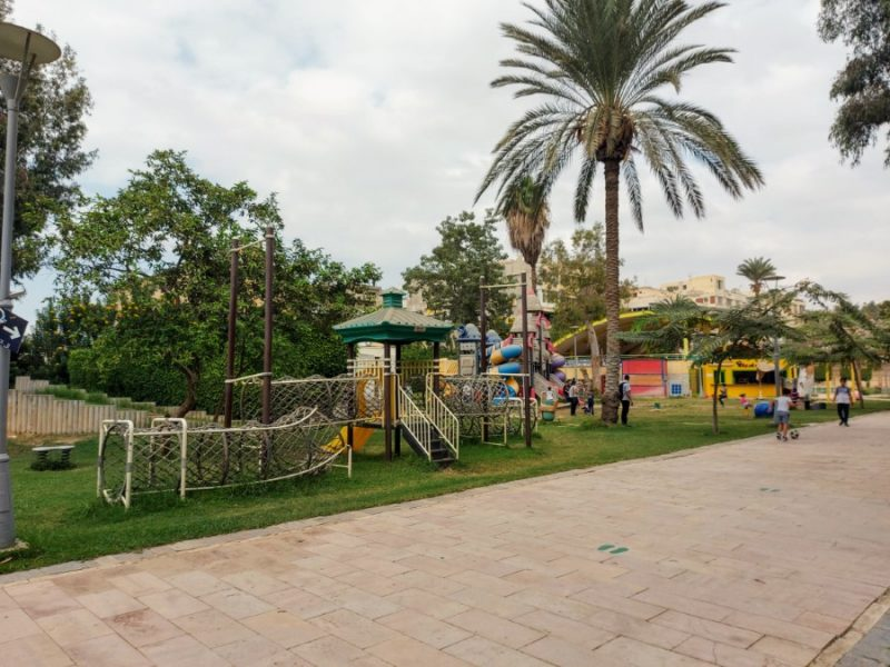 The park and playground at the Children's museum in Heliopolis