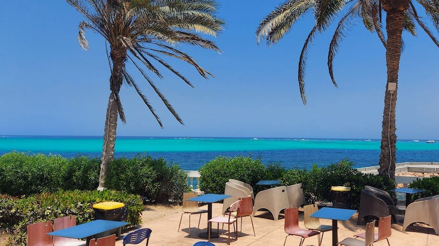 The local McDonald's in Marsa Matrouh has seating overlooking the sea