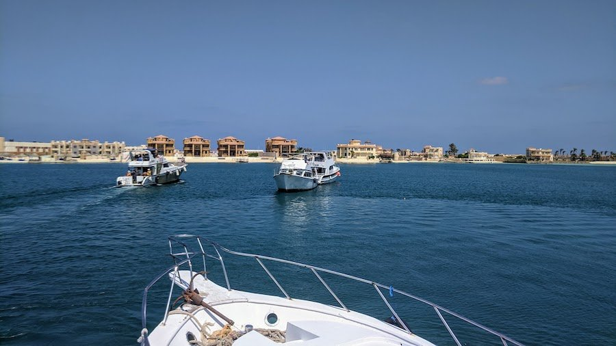 Rental yachts out at sea in Marsa Matrouh